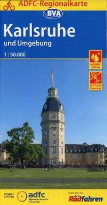 ADFC-Regionalkarte Karlsruhe und Umgebung mit Tagestouren-Vorschläge 1:50.000, reiß- und wetterfest, GPS-Tracks Download, Diverse