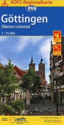 ADFC-Regionalkarte Göttingen Oberes Leinetal, 1:75.000, Diverse