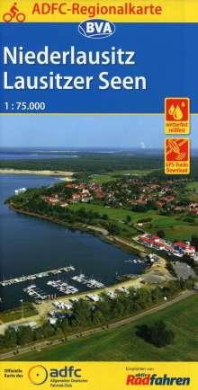 ADFC-Regionalkarte Niederlausitz Lausitzer Seen, 1:75.000, Diverse