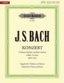 Johann Sebastian Bach (1685-1750): Konzert für 2 Violinen, Streicher und Basso continuo d-Moll BWV 1043 / URTEXT, Noten