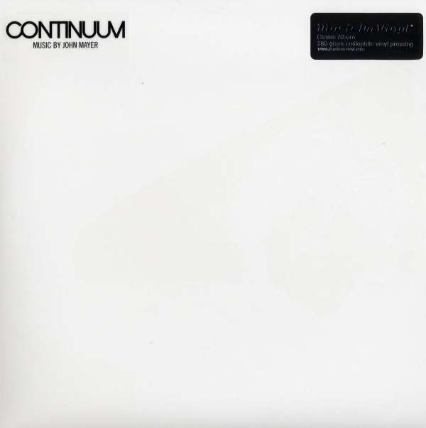 john mayer continuum 1 180g limited edition 2 lps jpc. Black Bedroom Furniture Sets. Home Design Ideas