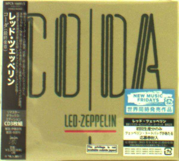 Led Zeppelin Coda Deluxe Edition Digisleeve 3 Cds Jpc