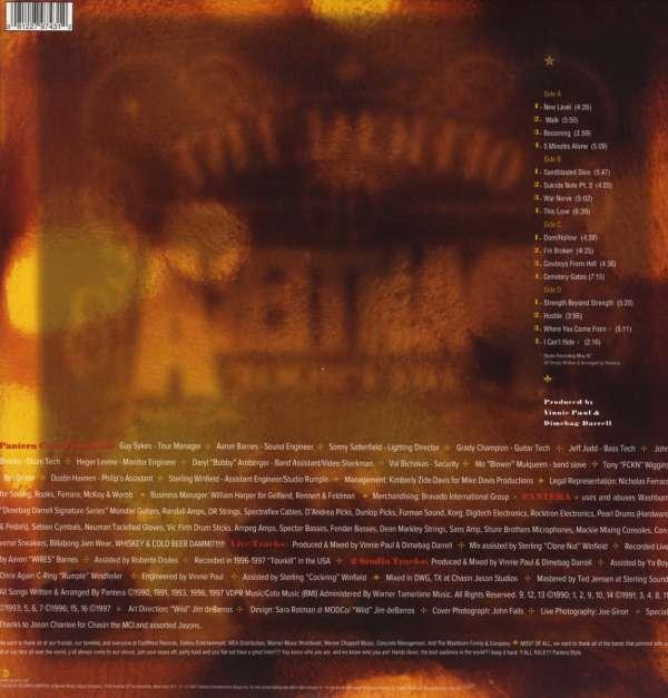 pantera official live 101 proof 180g 2 lps � jpc