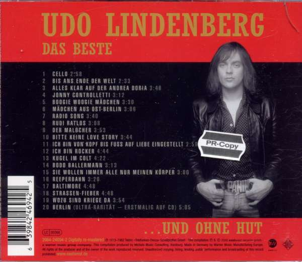 udo lindenberg das beste mit und ohne hut cd jpc. Black Bedroom Furniture Sets. Home Design Ideas