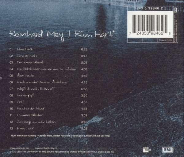Reinhard Mey: Rüm Hart, CD (Rückseite)