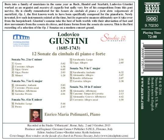 Lodovico GIUSTINI da Pistoia (1685-1743) 0730099723015