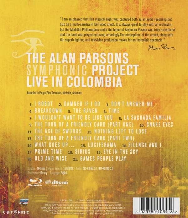alan parsons live project Amazones - compra live in colombia a un gran precio, con posibilidad de envío gratis ver opiniones y detalles sobre la gran selección de blu-ray y dvd, nuevos o.