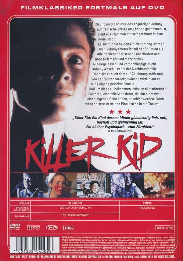 Killer Kid, DVD (Rückseite) Marc Marut