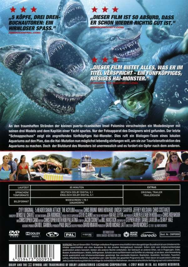5 Headed Shark Attack Dvd Jpc