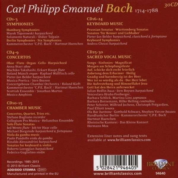 Carl Philipp Emanuel Bach - Reinhardt Menger Orgelwerke