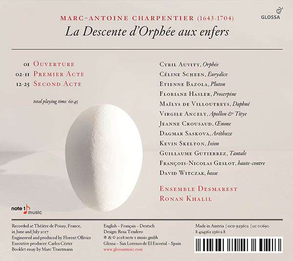 Marc-Antoine Charpentier : discographie 8424562236028