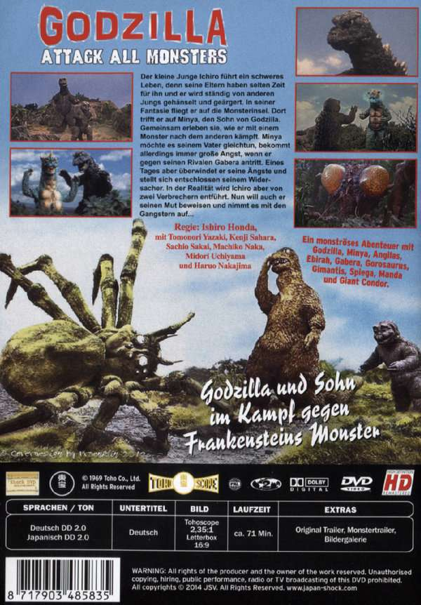 Godzilla Attack All Monsters