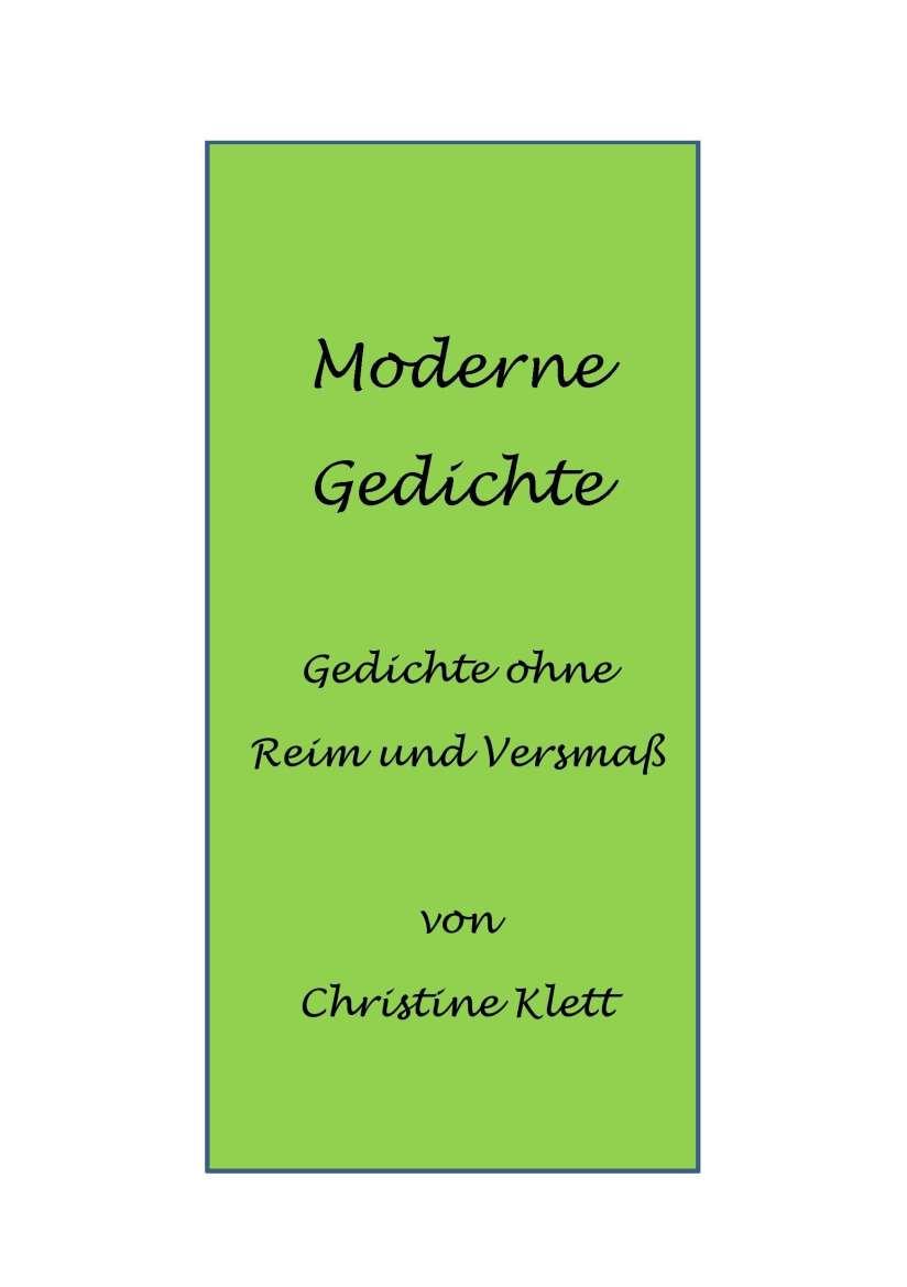 Christine klett moderne gedichte buch